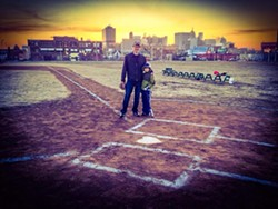 Opening Day 2014: Father and son, Michigan and Trumbull. - JOSEPH MICHNUK/TIM MEEKS