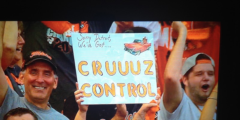 Behind slugging outfielder Nelson Cruz, the Baltimore Orioles and their fans find themselves in the driver's seat after Game 1 of the American League Division Series.