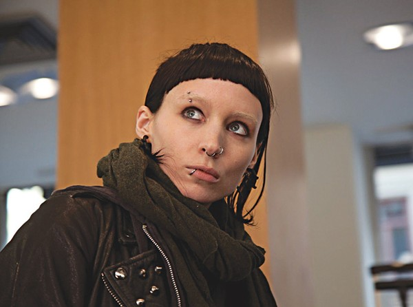 Piercing glare: Rooney Mara in Dragon Tattoo.
