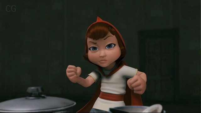 Red (Hayden Panettiere) fights you for your tolerance in Hoodwinked Too.