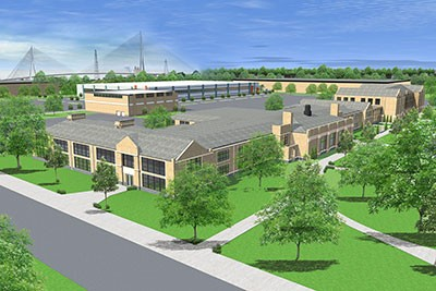 Rendering of new Sakthi Automotive facility in Southwest Detroit. - CITY OF DETROIT