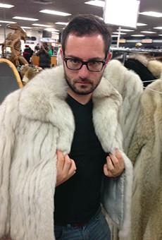Detail: American Jewelry & Loan's got fur