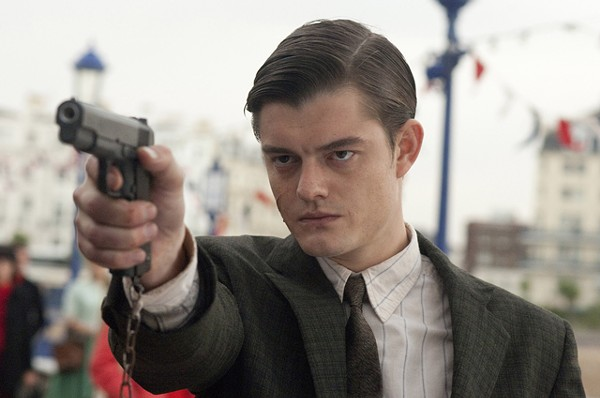 Sam Riley is an angry young man in Brighton Rock.