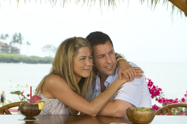 Sandler and Aniston on a studio subsidized vay-kay