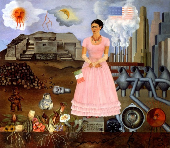 """Self Portrait on the Borderline"" by Frida Kahlo. - COURTESY OF THE DIA"