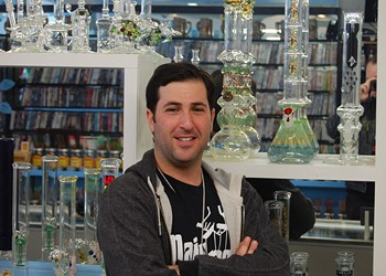 Shelby Berger, owner of Cloud 22 Head Shop, Main Street Pawn Shop & Patriot Firearms