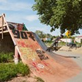 Skateboarding at Ride it Sculpture Park in Detroit