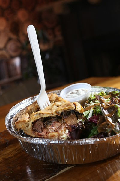 SMOG pie, which is steak, mushroom, onion and Gruyère, from Dangerously Delicious Pies in Detroit. - PHOTO BY ROB WIDDIS.