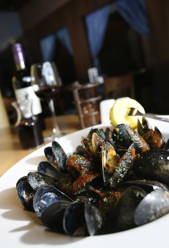 Steamed mussels in wine, garlic and herbs. - MT PHOTO: ROB WIDDIS