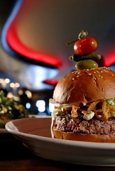 The Blue Cheese Burger from Luxe Bar & Grill in Grosse Pointe Farms.