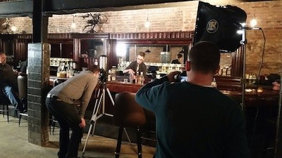 The 'Destination Michigan' crew on-site at Detroit City Distillery. - COURTESY 'DESTINATION MICHIGAN'