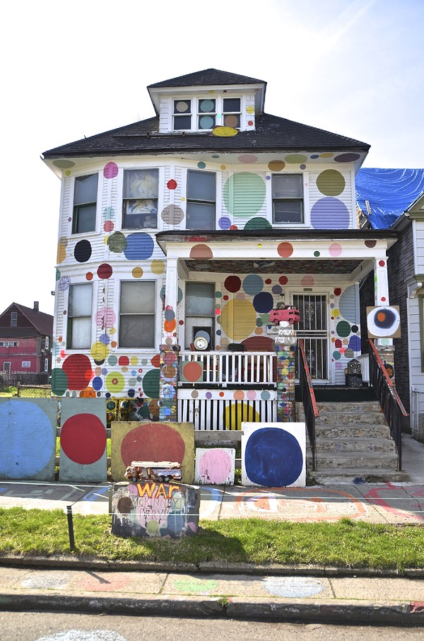 "The Heidelberg Project's ""People's House."" - COURTESY PHOTO."