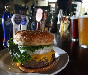 The Sidetrack Bar and Grill's cheeseburger. - MT PHOTO: ROB WIDDIS