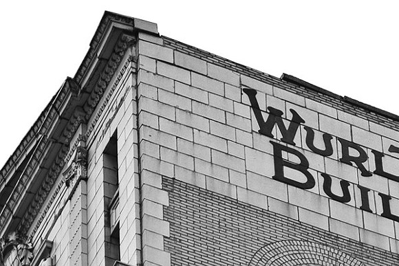 In 2011, a piece of the cornice from atop the Wurlitzer Building at 1509 Broadway in Detroit recently fell 12 stories, crashing through the roof of the neighboring building, 1515 Broadway. - TRAVIS R. WRIGHT