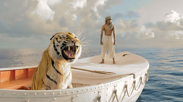 This time director Ang Lee takes us out on the ocean with a tiger and a hot literary property.