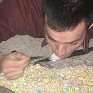 Michigan man fills pothole with Lucky Charms, eats it