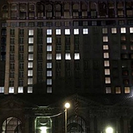 No, Michigan Central Station did not light up in solidarity with UFO Factory last night
