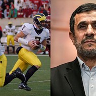 The ex-president of Iran is a U-M football fan, apparently