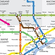 Here's what Detroit's freeways would look like as a subway map