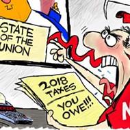 Comics: 'Trump tax scam'