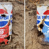 Pepsi can from 1973 washes up on shore at Michigan Native American reservation