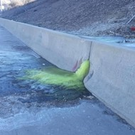 Green liquid that oozed onto I-696 is likely the toxic chemical featured in 'Erin Brockovich'
