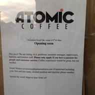 Atomic Coffee to refill empty Caribou in Royal Oak