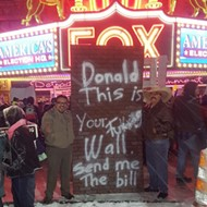 We met the guy who helped build Donald Trump's 'wall' outside of Fox Theatre