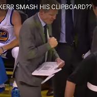 Watch Warriors coach Steve Kerr break his whiteboard in one punch