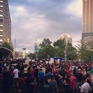 Grassroots protest against police brutality brings hundreds together in downtown Detroit