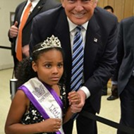 'Little Miss Flint' meets Donald Trump and her face sums up this entire election