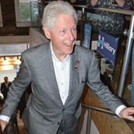 Former President Bill Clinton makes surprise Pontiac appearance