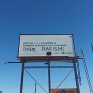 Defaced east side billboard telegraphs an uneasy truth