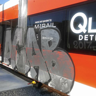 QLINE bombed with graffiti before it even opens