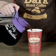 You can get a free Tim Hortons dark roast coffee, but only at night