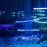 Michigan illuminated forest updates for trippy winter strolls