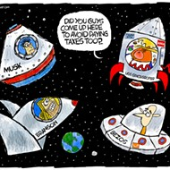Billionaires in space