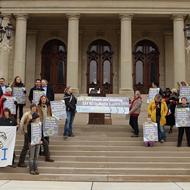 Activists deliver 345,000-signature petition against Nestlé to Capitol