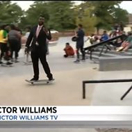 Sick! Detroit reporter shreds live on air at new skatepark
