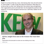 Freep solicits white male execs to give women career advice, it backfires spectacularly