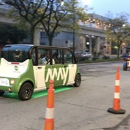 Autonomous shuttle for Bedrock employees is testing in Detroit this week