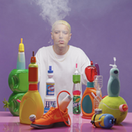 Eminem doppelganger channels his alter ego in colorful, bong-filled exhibit