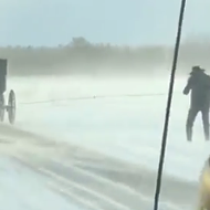 Amish buggy skiing is a thing, and it is gnarly