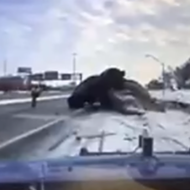 MSP release dash cam video of insane crash on M-39 ramp in Detroit