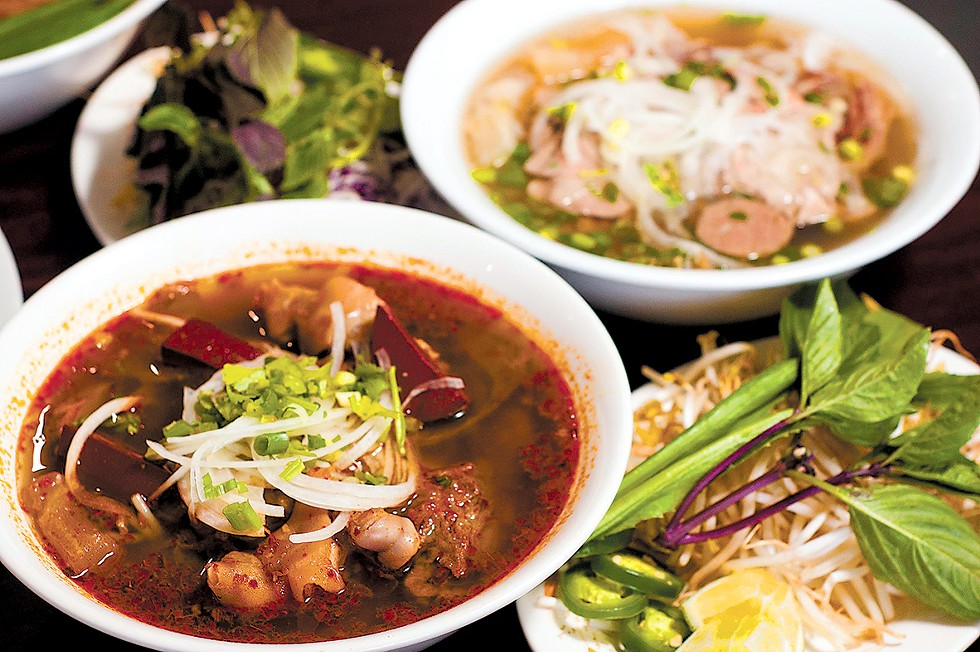 Dishes from Thuy Trang in Madison Heights. - TOM PERKINS