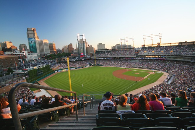 Comerica Park will probably look a lot more empty than this on Opening Day 2018. - SHUTTERSTOCK