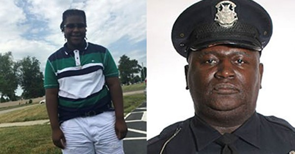 Damon Grimes, left. Detroit police officer Aubrey Wade, right. - FAMILY PHOTO/DETROIT POLICE