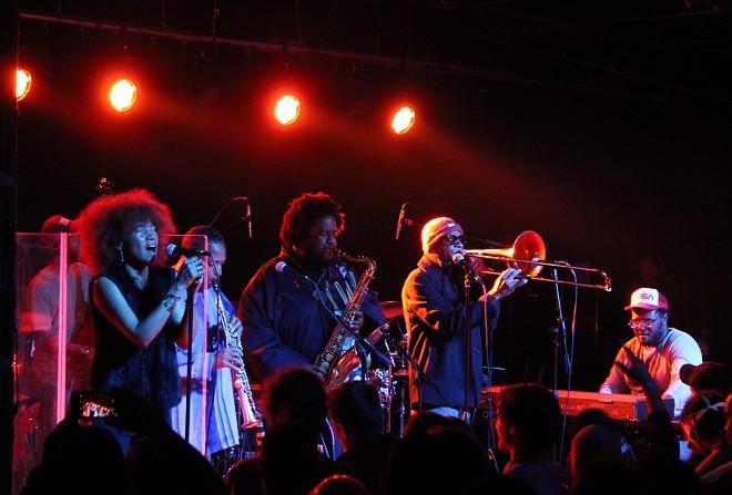 Kamasi Washington performing at the Magic Stick in Detroit. - ANA GAVRILOVSKA