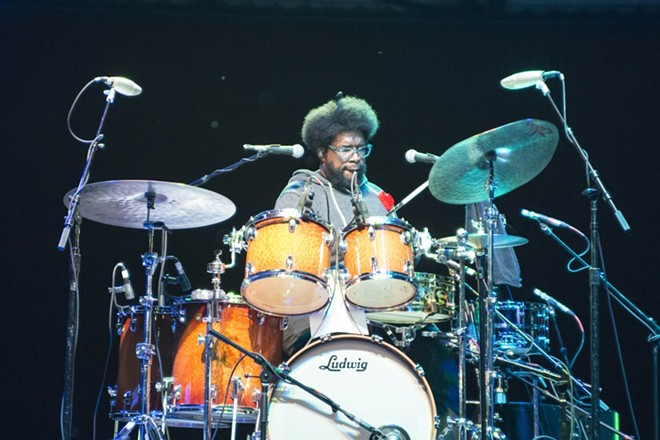 Questlove of the Roots performing at Chene Park in 2014. - MIKE FERDINDALE