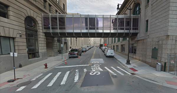 Brome's Balence Bar will soon serve from the pedestrian bridge. - STREETVIEW